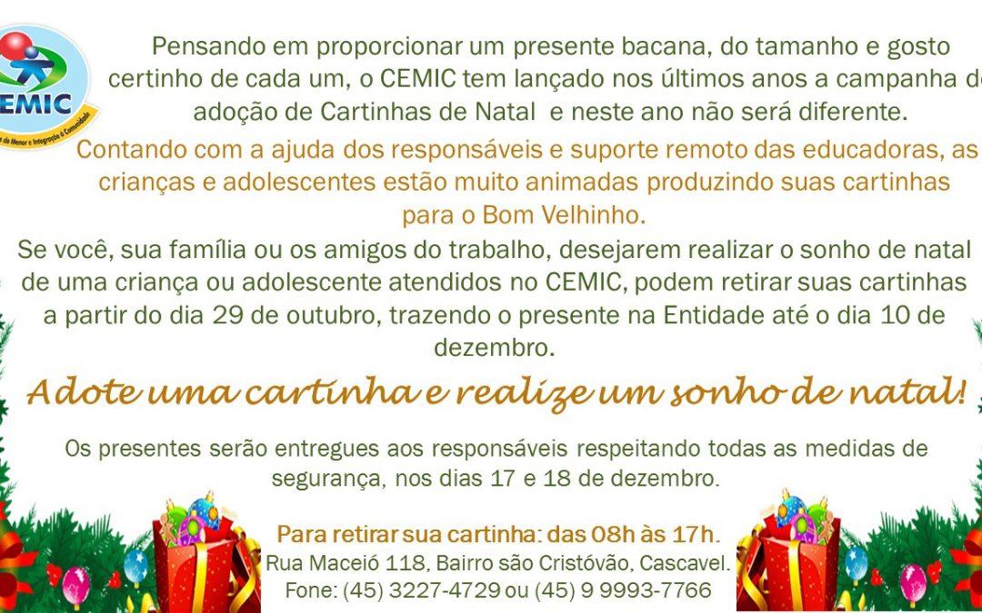 CAMPANHA – ADOTE UMA CARTINHA E REALIZE UM SONHO DE NATAL!