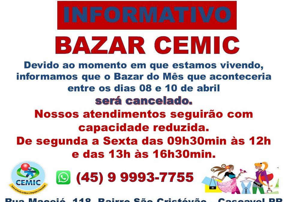 Informativo Bazar CEMIC 07.04.2021